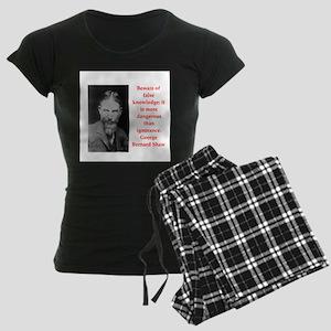 george bernard shaw quote Women's Dark Pajamas