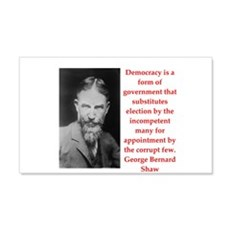 george bernard shaw quote Wall Decal
