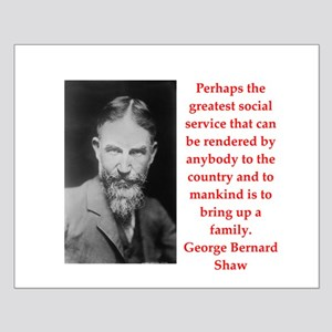 george bernard shaw quote Small Poster