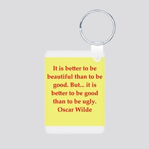 oscar wilde quote Aluminum Photo Keychain
