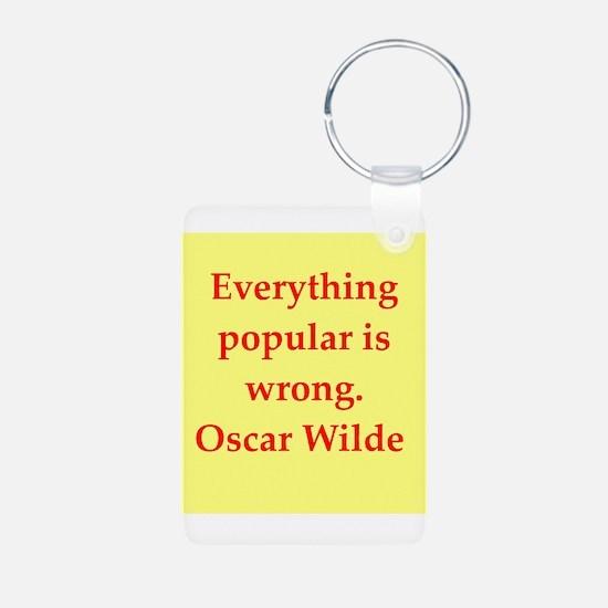 oscar wilde quote Keychains