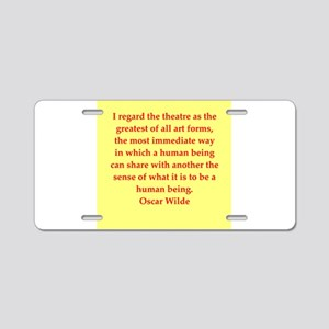 oscar wilde quote Aluminum License Plate