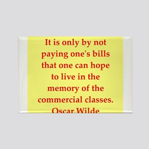 oscar wilde quote Rectangle Magnet