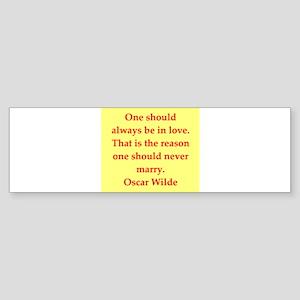 oscar wilde quote Sticker (Bumper)