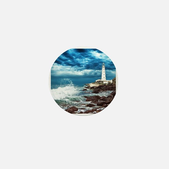 Lighthouse Mini Button