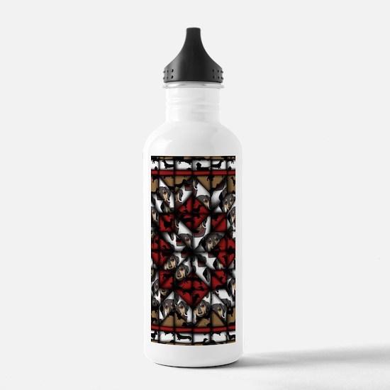 Dachshund Quilt Water Bottle