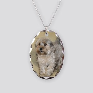 Morkie Necklace Oval Charm
