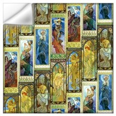 Mucha's Night And Day Wall Art Wall Decal