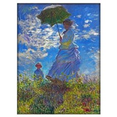 Monet - Woman With A Parasol Wall Art Poster