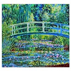 Monet - Water Lily Pond Wall Art Canvas Art