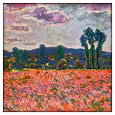 Monet - Poppy Field Wall Art Poster