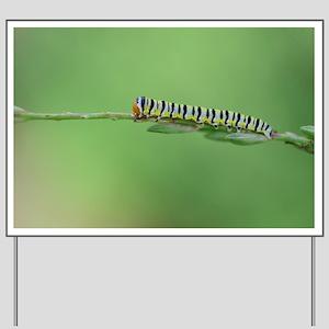 Lone Caterpillar Yard Sign
