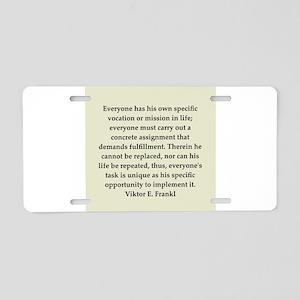 6 Aluminum License Plate