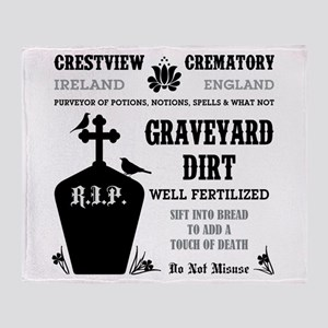 GRAVEYARD DIRT Throw Blanket
