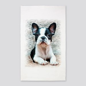 french bulldog 3'x5' Area Rug
