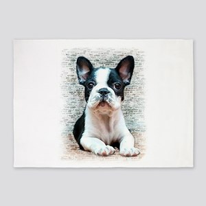 french bulldog 5'x7'Area Rug