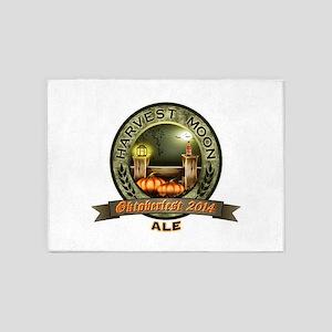 Oktoberfest 2014 Harvest Moon Ale Label 5'x7'Area