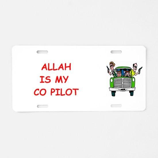 my copilot Aluminum License Plate