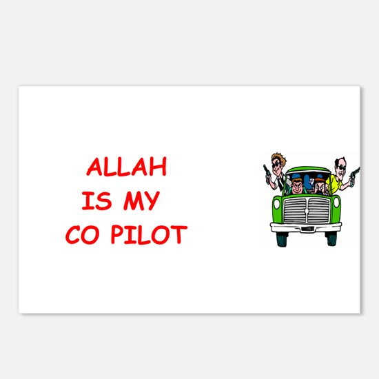 my copilot Postcards (Package of 8)