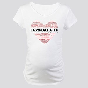 I Own My Life_Red Heart Maternity T-Shirt