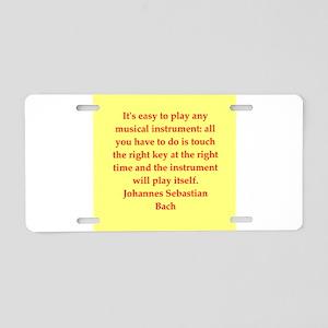 BACH3 Aluminum License Plate