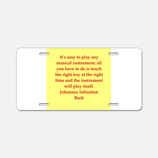BACH3.png Aluminum License Plate