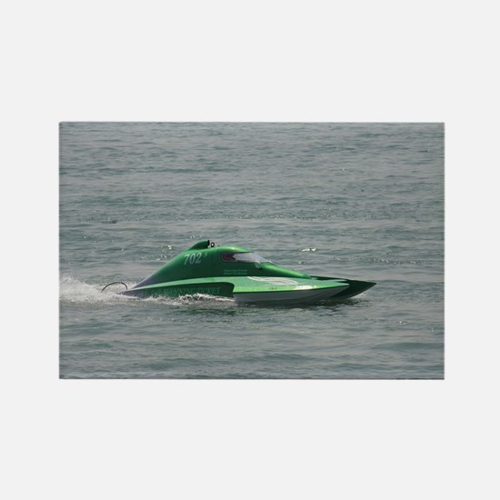 Green Hydroplane Rectangle Magnet