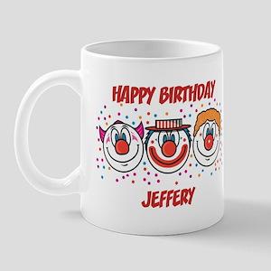 Happy Birthday JEFFERY (clown Mug