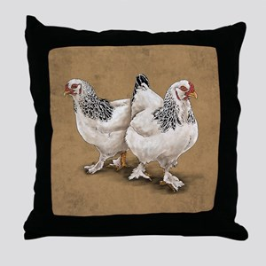 Brahma Hens Throw Pillow