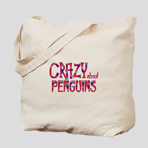Crazy About Penguins Tote Bag