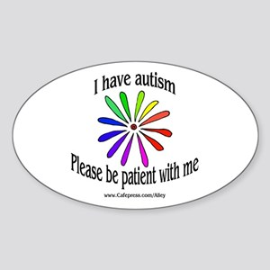 Autism Patience Oval Sticker