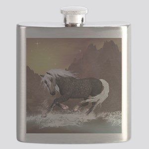Brown horse Flask