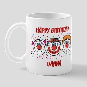 Happy Birthday DANNA (clowns) Mug