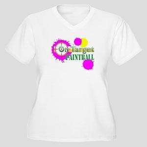 On-Target Paintball Women's Plus Size V-Neck Tee