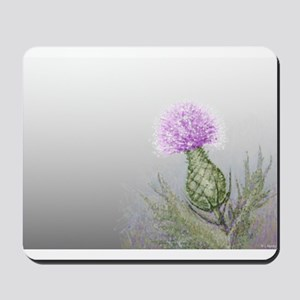 watercolor thistle Mousepad