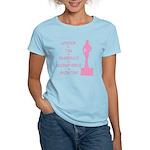 Showtime (pink text) Women's Light T-Shirt