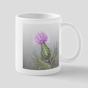 watercolor thistle Mug