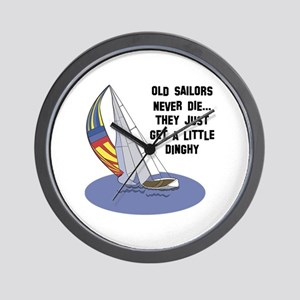 Old Sailors Never Die Wall Clock