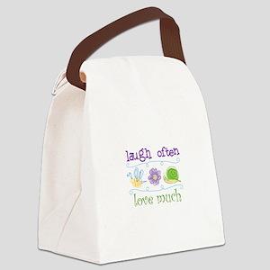 Laugh Often Canvas Lunch Bag