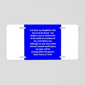 ter5 Aluminum License Plate