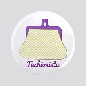 """Fashionista Purse 3.5"""" Button"""