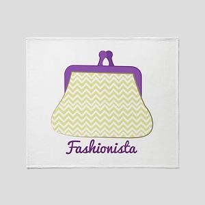 Fashionista Purse Throw Blanket