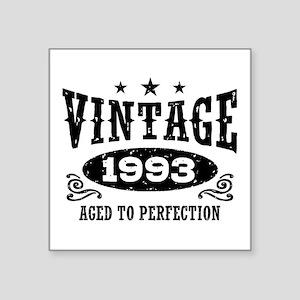 "Vintage 1993 Square Sticker 3"" x 3"""