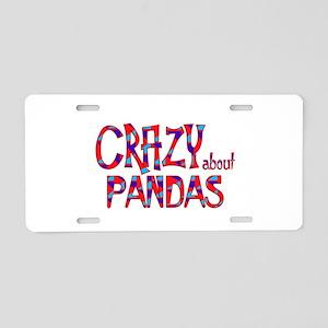 Crazy About Pandas Aluminum License Plate