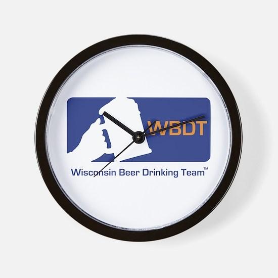 Wisconsin Beer Drinking Team Wall Clock
