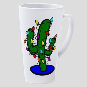 Christmas Tree Cactus 17 Oz Latte Mug