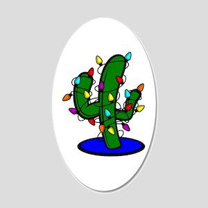 Christmas Tree Cactus 20x12 Oval Wall Decal
