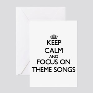 Movie themed greeting cards cafepress keep calm by focusing on theme song greeting cards m4hsunfo