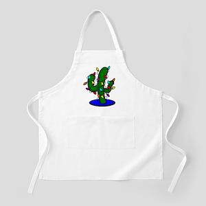 Christmas Tree Cactus Light Apron