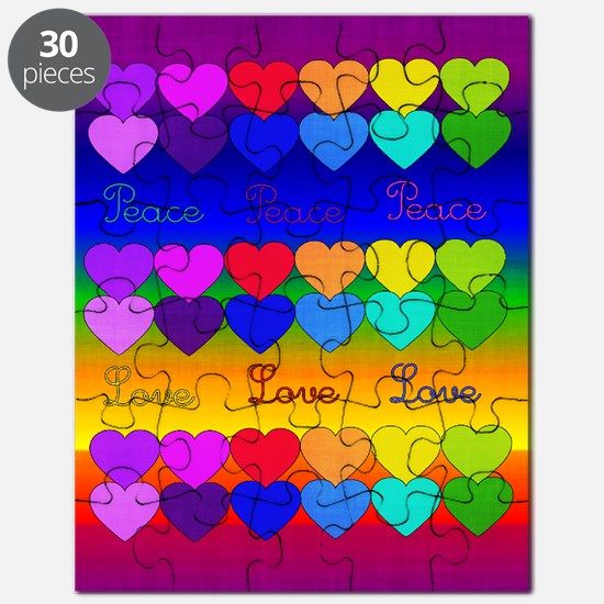 Rainbow Of Peace and Love Puzzle